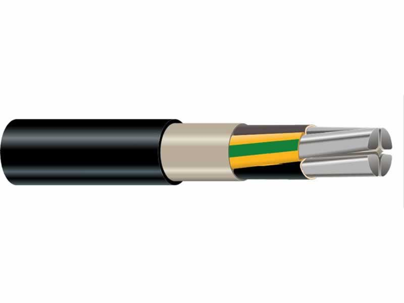 0.6/1kv Four Core Aluminium XLPE Insulated PVC Jacket Underground Power Cables